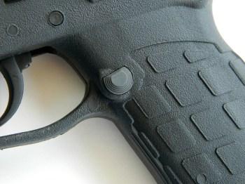 magazine release on a pistol