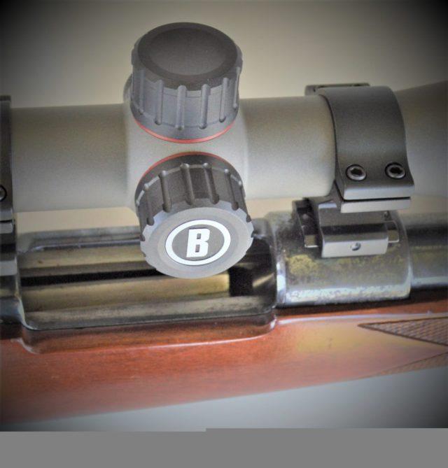 Bushnell Nitro rifle scope angled view