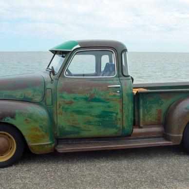 classic pickup truck gun