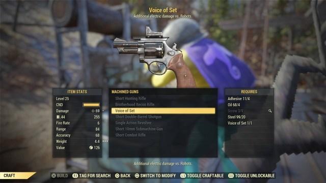 Fallout 76 Guns - revolver
