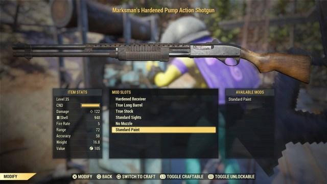 Fallout 76 Guns - shotgun
