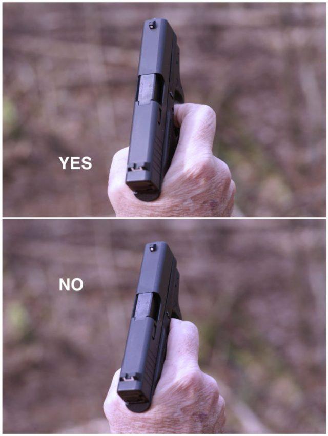 Handgun trigger placement