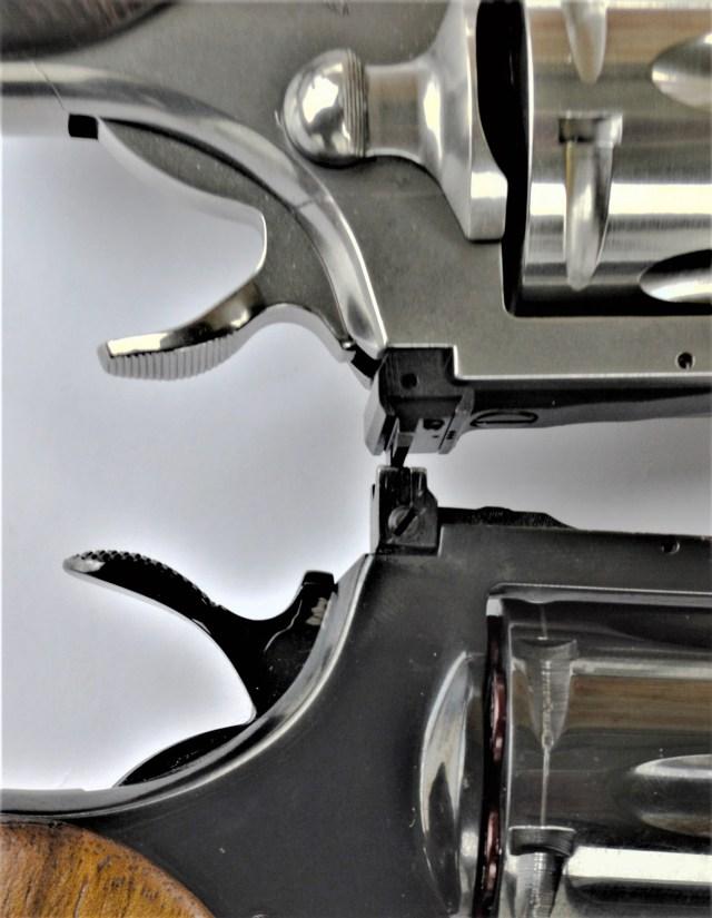 Colt Python rear sights