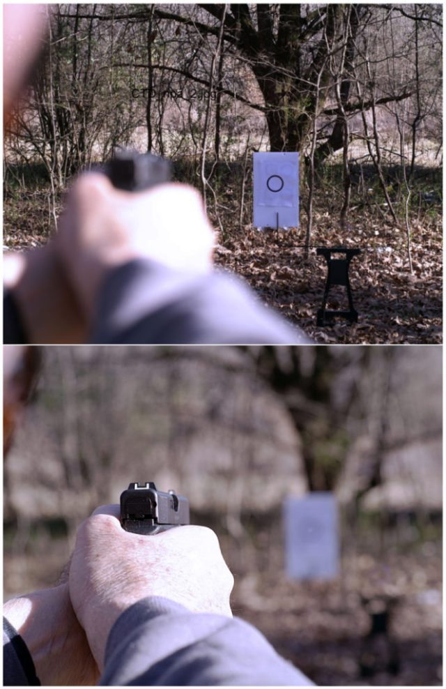 natural point of aim - pistol on target