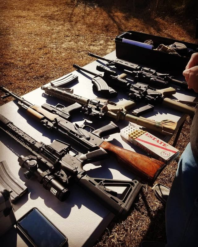 Rifles on Table