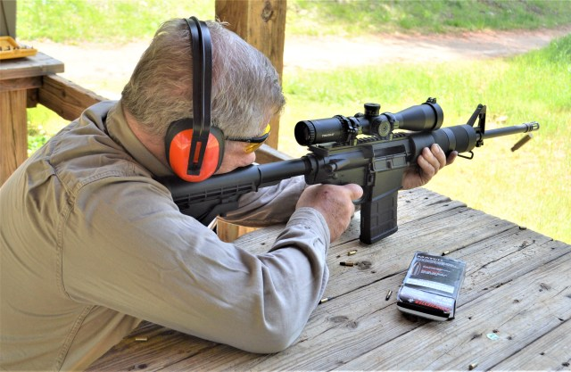 Shooting Rifle with Scope