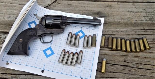 Colt SAA on Target
