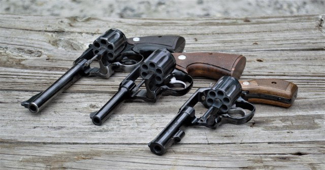 Revolvers with varying barrel lengths