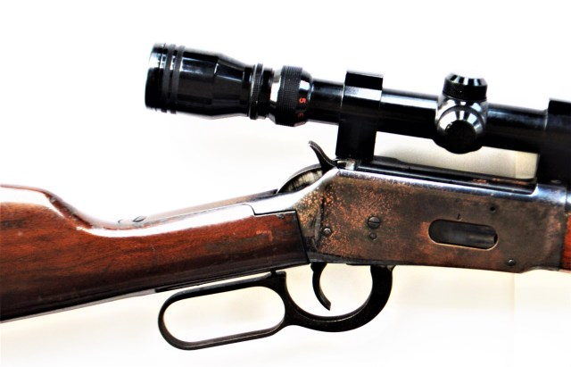 Winchester Lever-Action Rifle with Scope