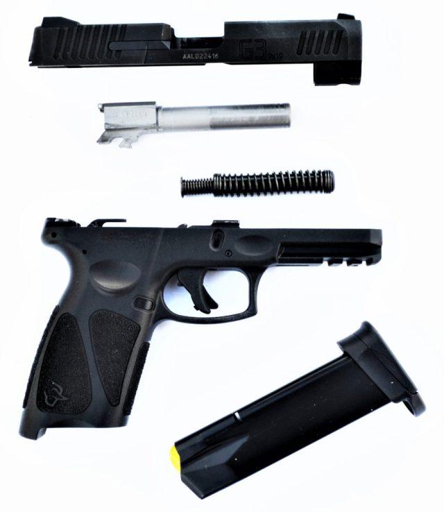 Disassembled Taurus G3 Pistol