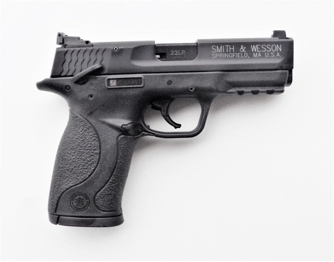 M&P 22 Compact on White Background