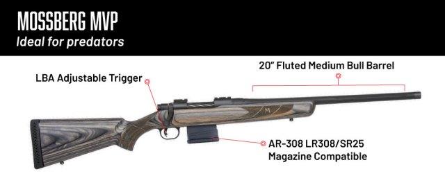 6.5 creedmoor rifles - mossberg mbp