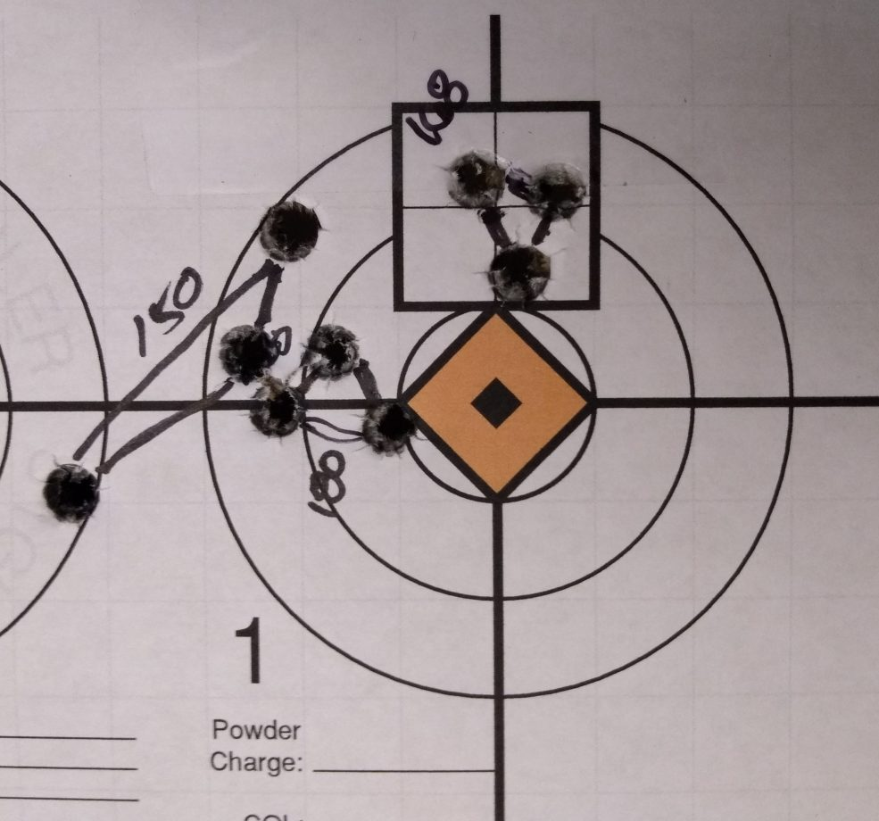 .308 Winchester Ammunition Group on Target