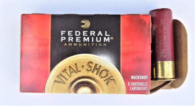 Federal 12-gauge buckshot ammunition