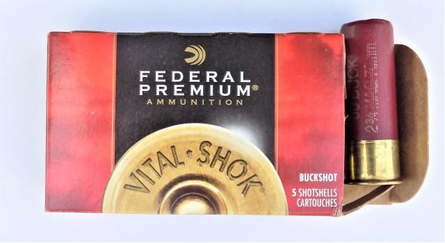 Federal 12-gauge buckshot ammunition