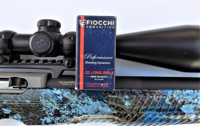 Fiocchi .22 Long Rifle ammo and rifle