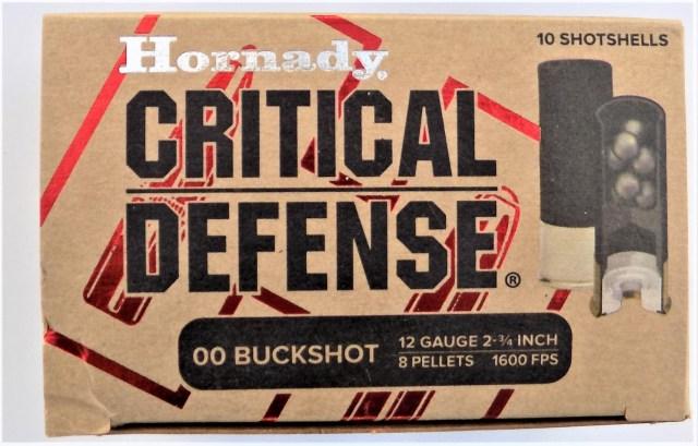 Hornady Critical Defense 12-gauge 00 buck