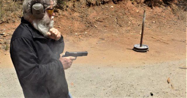 Man firing from retention