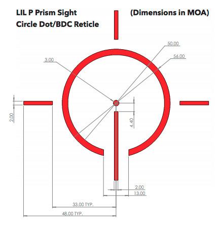 Lil P Reticle - 1x Prism Optics