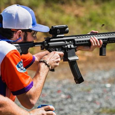Firing AR-15 with Adjustable Stock