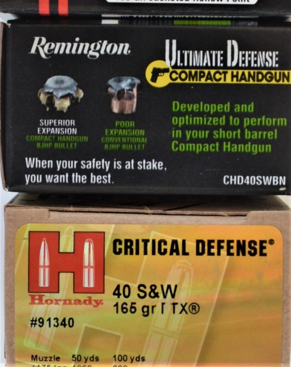 Hornady and Remington .40 S&W Ammo