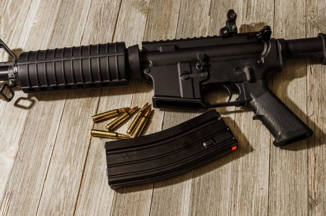 AR-15 Rifle with magazine and ammo
