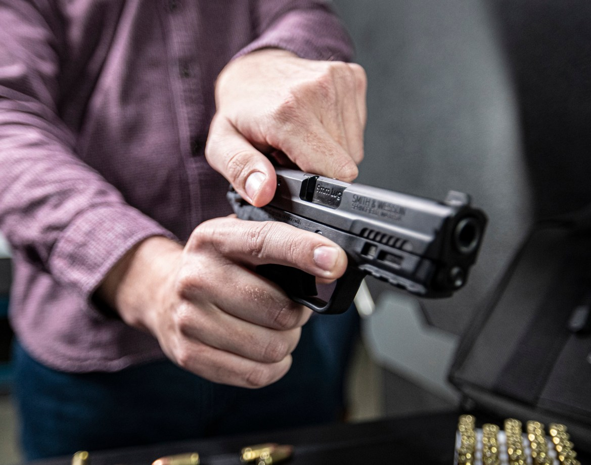Smith and Wesson M&P in Hand