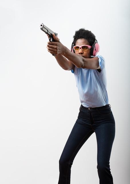 Isosceles shooting stance