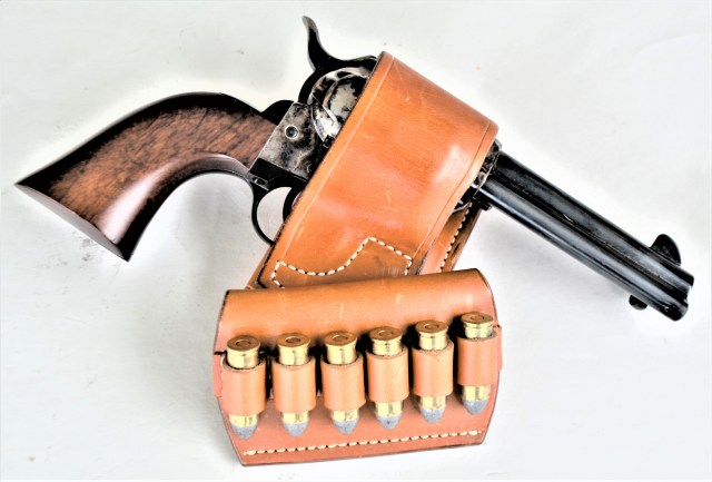 .45 Colt Revolver and Ammo in Holster and Carrier