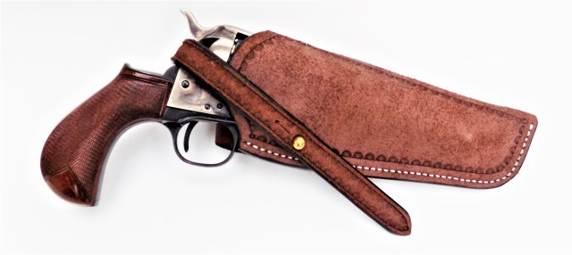 Cimarron Lightning in Leather Holster