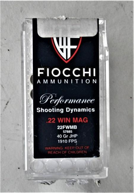 Fiocchi .22 Magnum Ammo