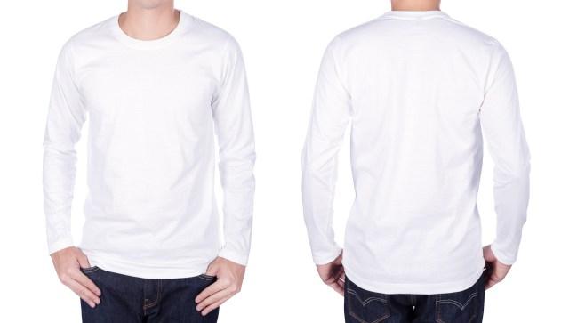 man in white long-sleeve t-shirt