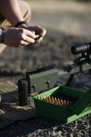 Long range rifle and load ammo