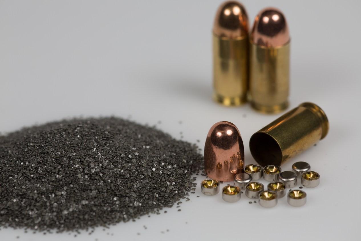reloading handgun ammo, disassembled cartridge