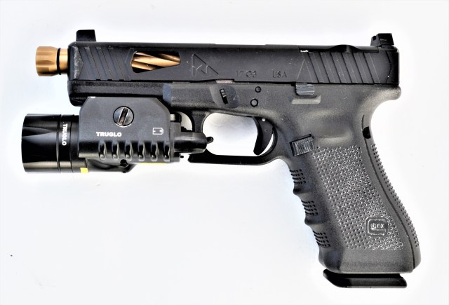customized GLOCK pistol