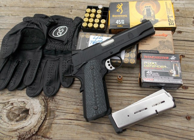Springfield TRP 1911 and shooting gear