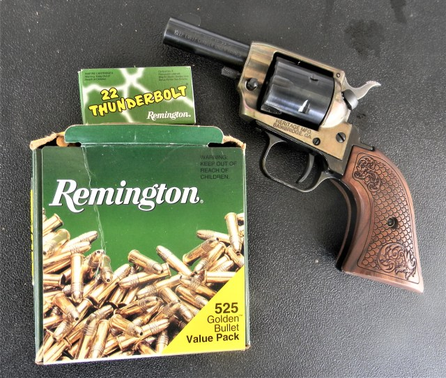 Heritage revolver and .22 ammo