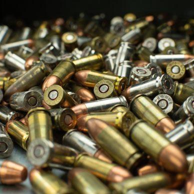 large pile of assorted handgun ammunition
