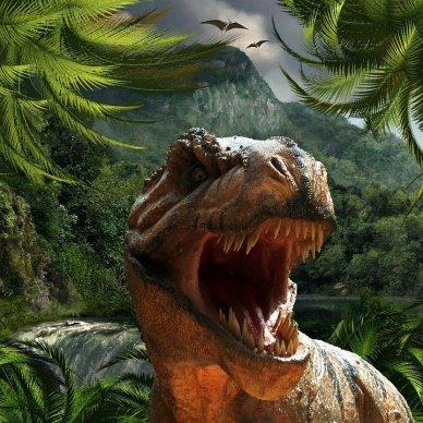 tyrannosaurus rex in forest