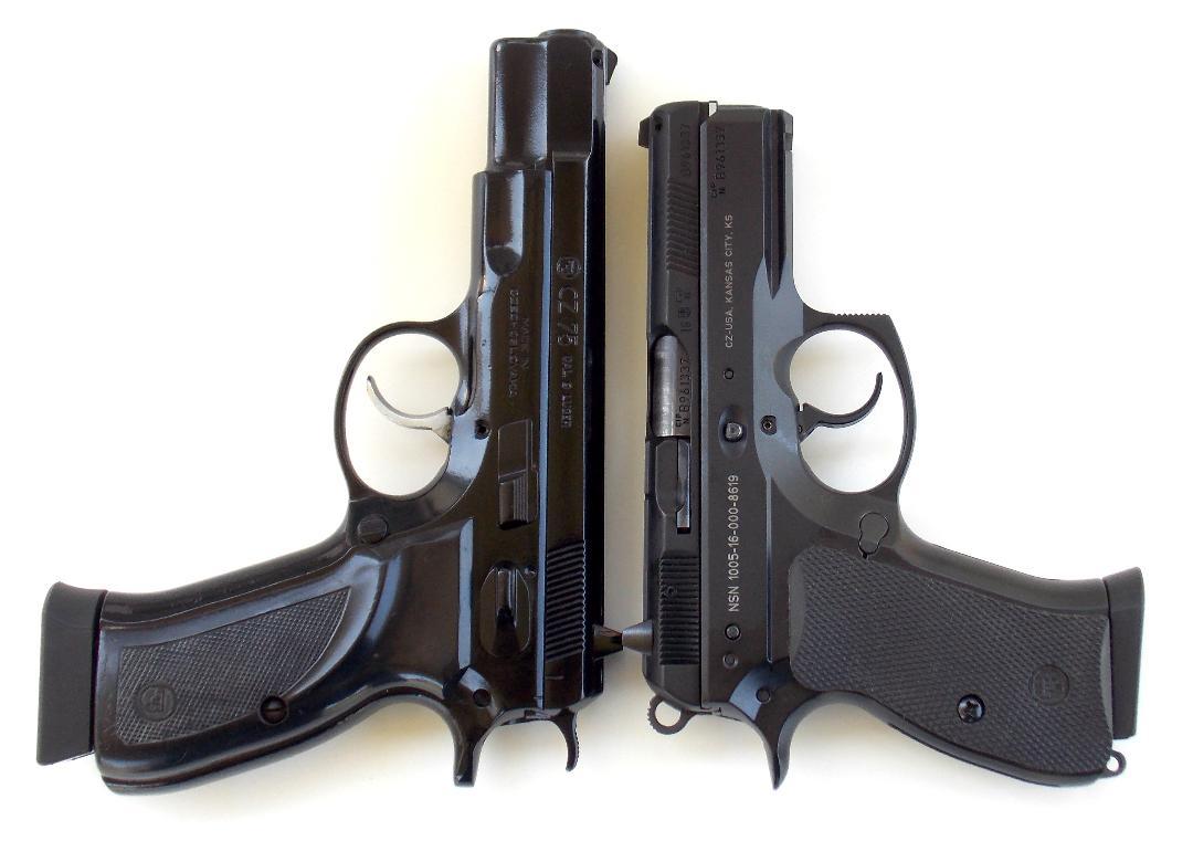 CZ 75 pistol and P-01 pistol