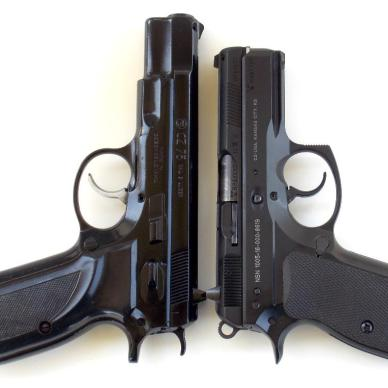 CZ 75 pistol and P-01 pistol