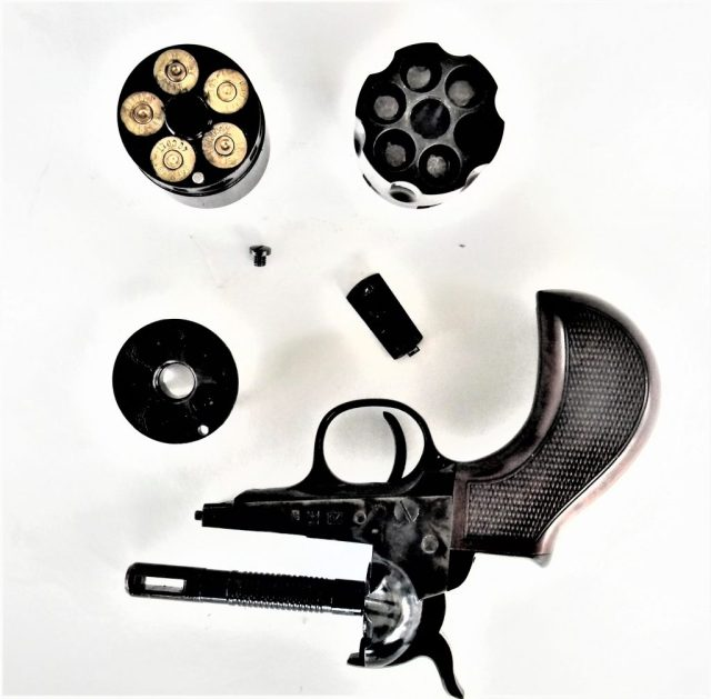 Disassembled 1860 Army Revolver