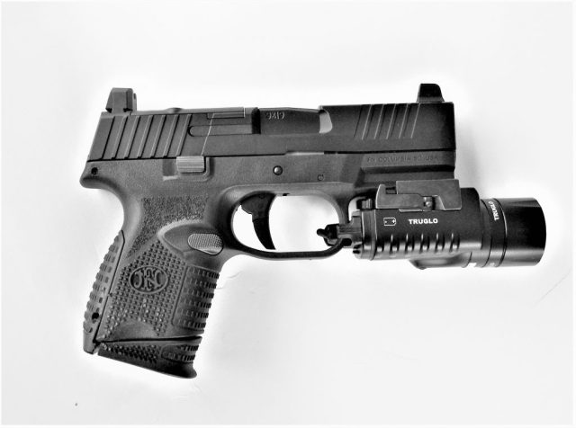FN 509 Compact pistol with light