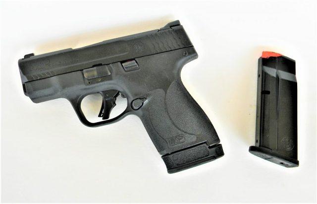S&W M&P Plus pistol and magazine