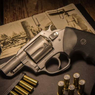 charter arms bulldog revolver on table with ammo