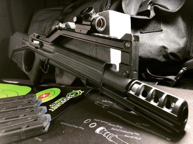 Bullpup Rifle on mat