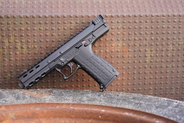 pistol on table