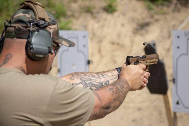 man shooting best 9mm pistols