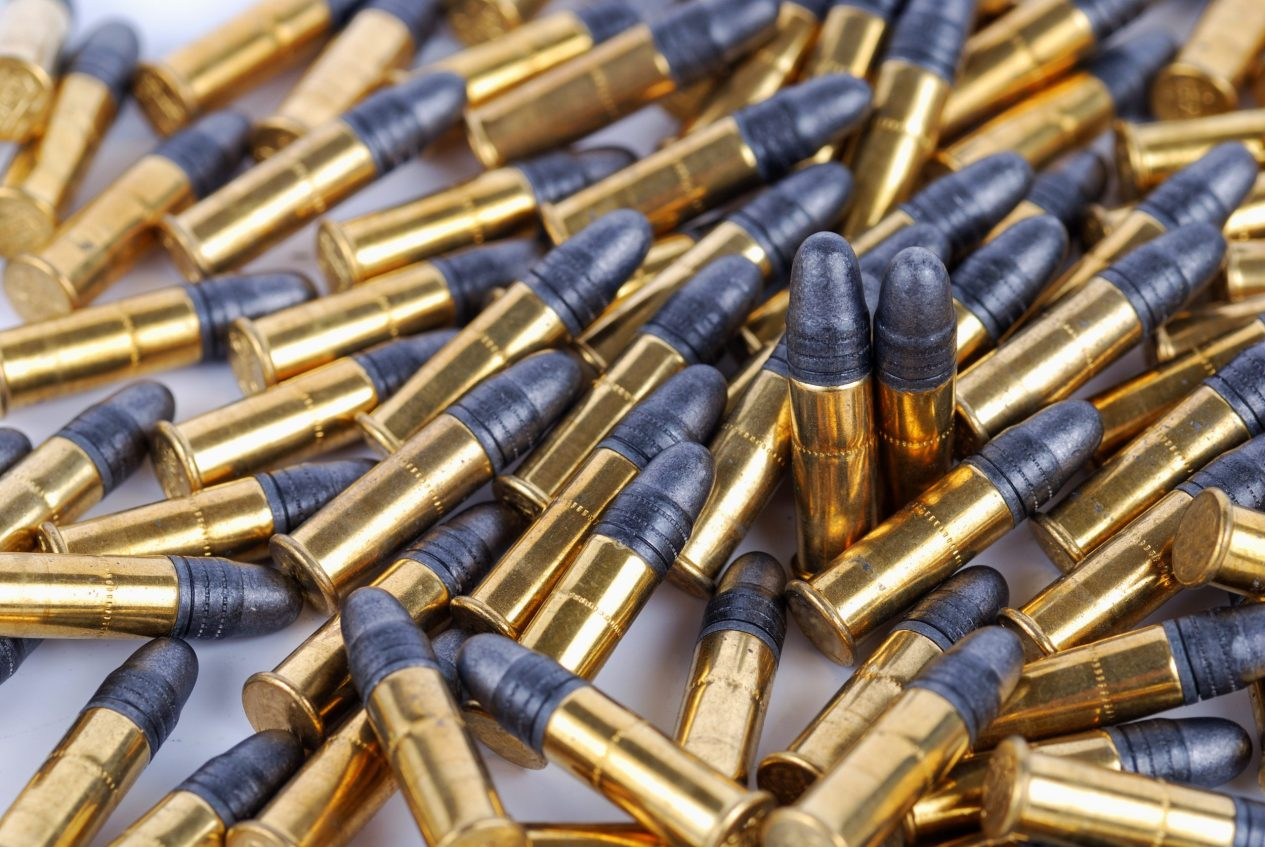 pile of .22 LR ammo