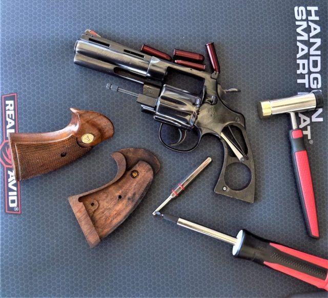 clean firearms feildstripped revolver